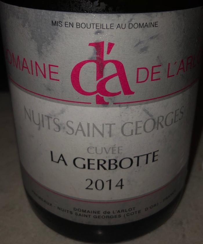 Domaine Arlot 2014, la gerbotte