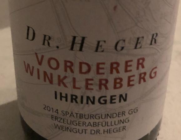 Pinot Noir 2014 Dr.Heger